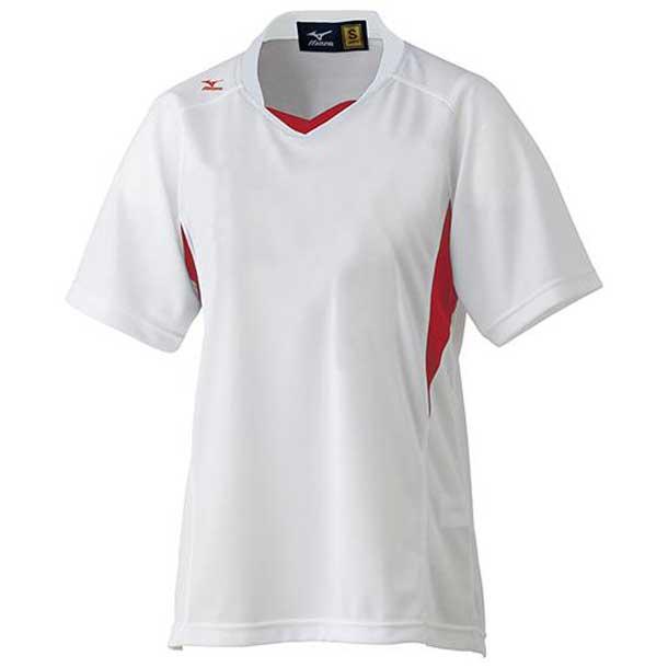 ゲームシャツ(レディース/ソフトボール) (62ホワイト×レッド) 【MIZUNO】ミズノ ソフトボール ウエア (12JC4F7062)
