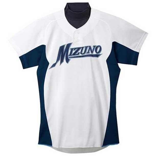 練習用シャツ 14ホワイト×ネイビー MIZUNO ミズノ 野球 ウエア 練習用ユニフォーム 12JC5F4214 野球ウエア