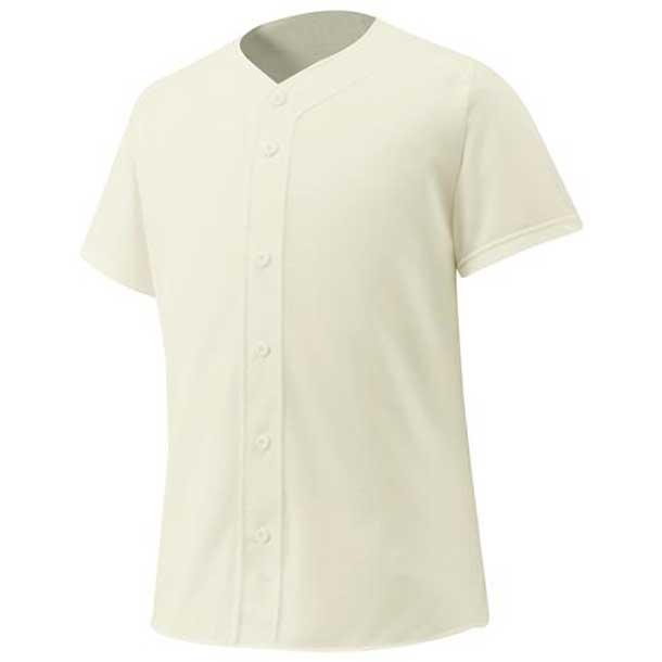 シャツ/オープンタイプ 野球 46クリーム MIZUNO ミズノ ウエア ユニフォームシャツ 12JC6F4046 野球ウエア