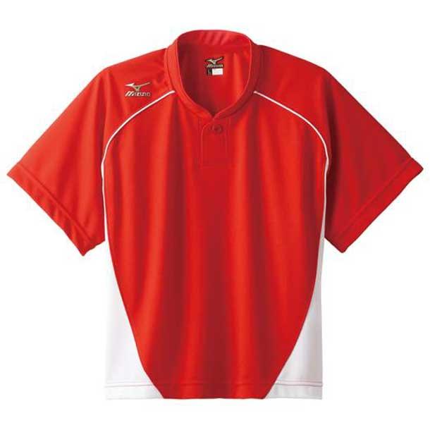 グローバルエリート ベースボールシャツ/ハーフボタン/小衿 レディース 72レッド×ホワイト MIZUNO ミズノ 野球 ウエア ユニフォームシャツ 12JC6L70 12jc6l7072 野球ウエア
