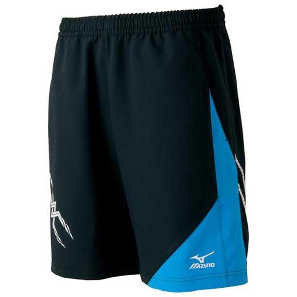 ゲームパンツ(ハーフ丈)(ラケットスポーツ) (92ブラック×ブルー) 【MIZUNO】ミズノ テニス ウエア ゲームパンツ/スカート (62JB600192)