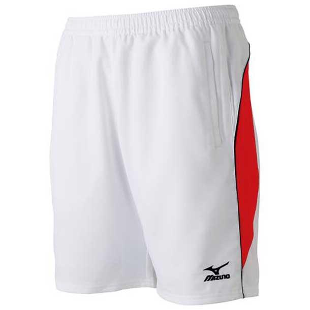 ゲームパンツ(ハーフ丈)(ラケットスポーツ) (76ホワイト×レッド) 【MIZUNO】ミズノ テニス ウエア ゲームパンツ/スカート (62JB600276)